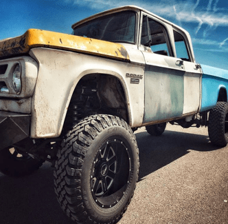 dodge truck closeup